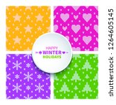 set of 4 bright trendy color... | Shutterstock .eps vector #1264605145