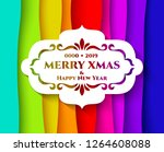 abstract bright rainbow... | Shutterstock .eps vector #1264608088