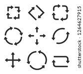 black arrows combinations.... | Shutterstock . vector #1264627915