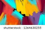 bright paint palette on black...   Shutterstock . vector #1264630255