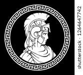 greek round antique pattern.... | Shutterstock .eps vector #1264647742