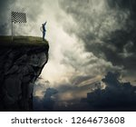 surreal view as a young man... | Shutterstock . vector #1264673608