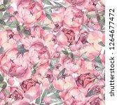 seamless flowers pattern.... | Shutterstock . vector #1264677472