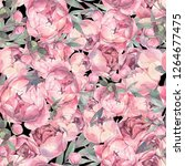 seamless flowers pattern.... | Shutterstock . vector #1264677475