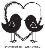 two birds and heart | Shutterstock .eps vector #126469562