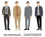 vector of young men in various... | Shutterstock .eps vector #1264703005