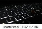 Closeup Of Laptop Keyboard...