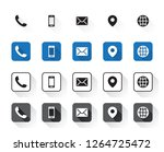 4 different contact icons | Shutterstock .eps vector #1264725472