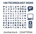 technology icons  signs set