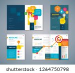 cover book design set  business ... | Shutterstock .eps vector #1264750798