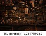 electronic circuit board close... | Shutterstock . vector #1264759162