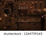 electronic circuit board close... | Shutterstock . vector #1264759165