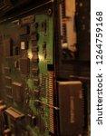 electronic circuit board close... | Shutterstock . vector #1264759168