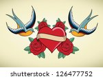 tattoo illustration with heart  ...