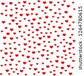 hearts pattern  red heart... | Shutterstock .eps vector #1264780615