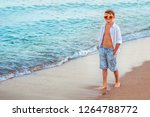 fashionable teenager in... | Shutterstock . vector #1264788772