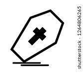 vector coffin icon  | Shutterstock .eps vector #1264806265