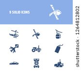 transportation icon set and... | Shutterstock .eps vector #1264812802