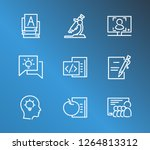 training icon set and academic... | Shutterstock .eps vector #1264813312