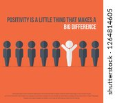 positivity is a little thing... | Shutterstock .eps vector #1264814605