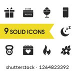 lifestyle icons set with weight ...