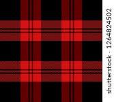 christmas and new year tartan... | Shutterstock .eps vector #1264824502
