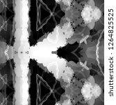 geometric black and white... | Shutterstock . vector #1264825525