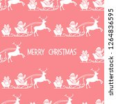 christmas 2019 seamless pattern.... | Shutterstock .eps vector #1264836595