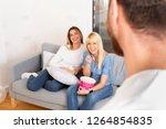 friends having fun | Shutterstock . vector #1264854835