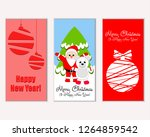 merry christmas and happy new... | Shutterstock .eps vector #1264859542