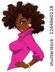 beautiful afro girl wearing a...   Shutterstock .eps vector #1264860118