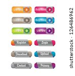 set of glossy buttons. | Shutterstock .eps vector #126486962