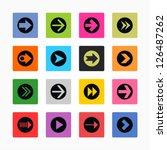 arrow icon set sign in circle....