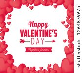 happy valentine day celebration ... | Shutterstock .eps vector #1264876975