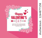 valentine card message with... | Shutterstock .eps vector #1264877158