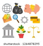 set bitcoin currency with credi ... | Shutterstock .eps vector #1264878295