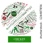 cloud word of cricket game... | Shutterstock . vector #126487856