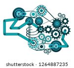 a complex mechanism consisting... | Shutterstock .eps vector #1264887235