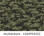 texture military camouflage... | Shutterstock .eps vector #1264924222