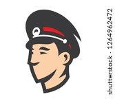 russian police head sign | Shutterstock .eps vector #1264962472