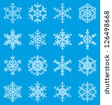 set of 16 vector snowflakes | Shutterstock .eps vector #126498668