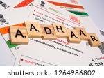 maski karnataka india  ... | Shutterstock . vector #1264986802