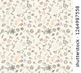 vector seamless pattern with... | Shutterstock .eps vector #1264987558