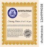 orange vintage invitation... | Shutterstock .eps vector #1264994038