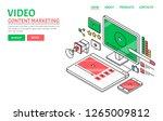 video content  video marketing... | Shutterstock .eps vector #1265009812