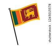 isolated flag of sri lanka on a ... | Shutterstock .eps vector #1265015578