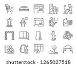special event line icon set.... | Shutterstock .eps vector #1265027518