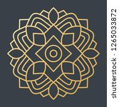 beautiful golden decoration... | Shutterstock .eps vector #1265033872