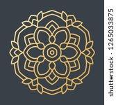 beautiful golden decoration... | Shutterstock .eps vector #1265033875