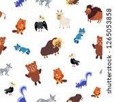 wild north america animals... | Shutterstock .eps vector #1265053858